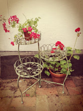 Load image into Gallery viewer, Rustic Green Metal 3 Tier Pot Stand