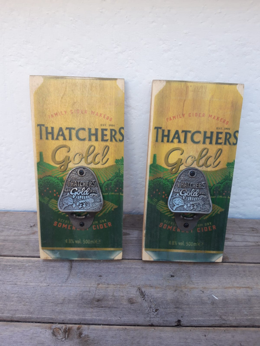 Thatcher's Gold Plaque Bottle Opener