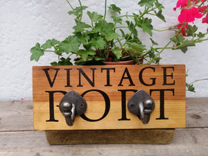 Reclaimed Wine Box Frontage Hooks