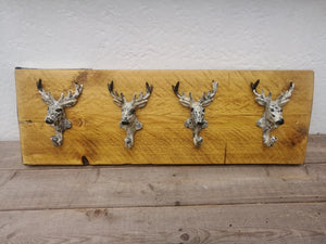Scaffold Board Mounted Stag Coat Holder