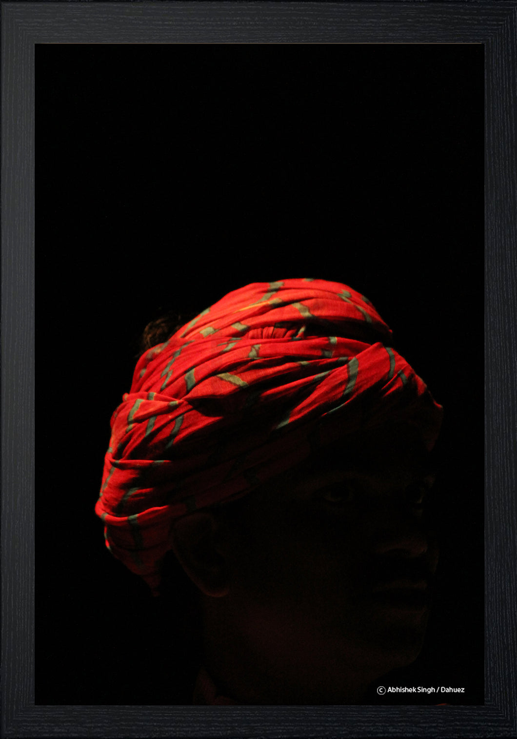 RED TURBAN by Abhishek Singh
