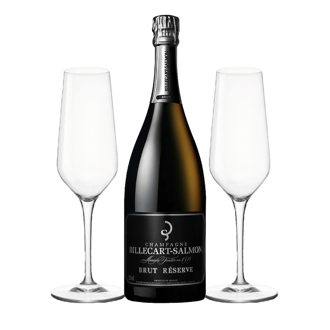 Billecart Salmon + 2 Champagne Flutes