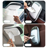Multi-functional Anti-slip Car Tissue Napkin Holder Creative Solid Tissue Organizer T7