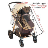 Stroller Accessories Waterproof Rain Cover Zipper Open Transparent Wind Dust Shield  For Baby Strollers Pushchairs Raincoat - www.terndeals.com online shopping canada