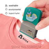 LOVE custom-made Baby Name Stamp DIY for children Name Seal student clothes chapter Not Easy To Fade Security Name Stamp Sticker - www.terndeals.com online shopping canada