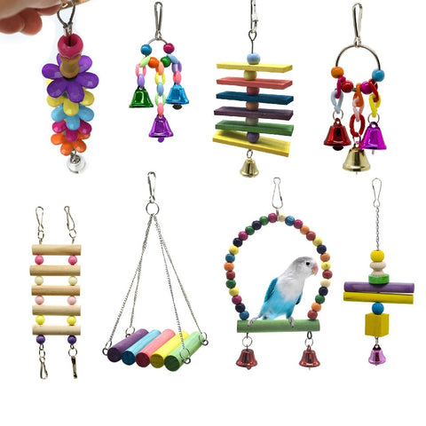 Bird Bite Hanging Ornaments Attachment Training Chew Toys T7