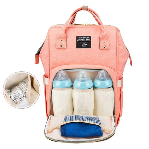 Fashion Mummy Maternity Nappy Backpack Bag Large Capacity Mom Baby Multifunction Outdoor Travel Diaper Bags For Baby Care T7 - www.terndeals.com online shopping canada