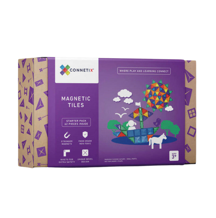 Connetix Magnetic Tiles 62 Piece Set