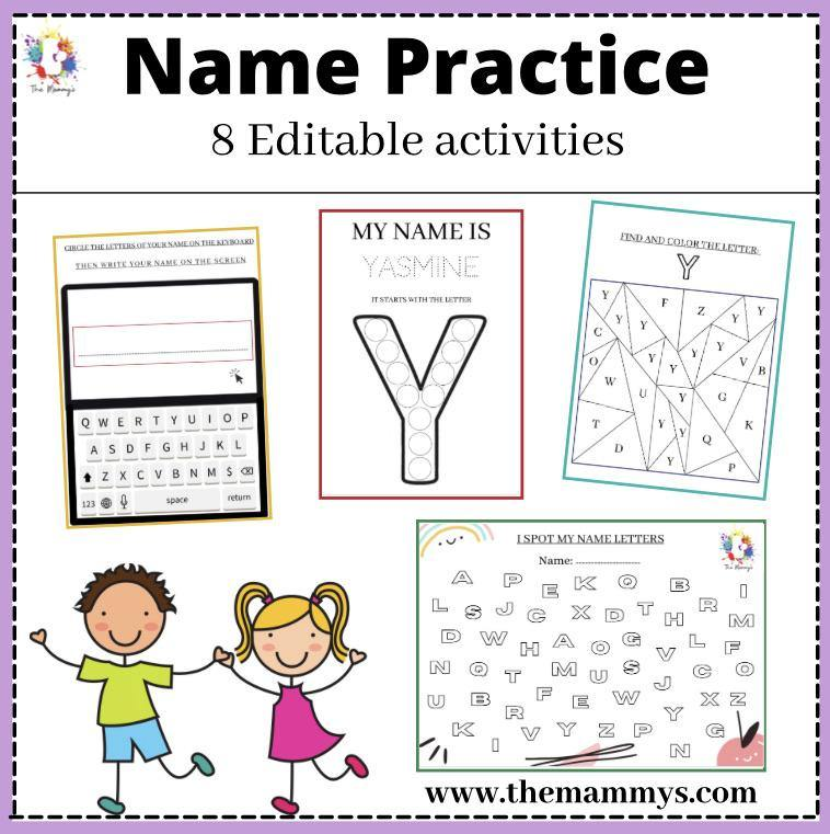 Name practice - Editable activities - The mammy's