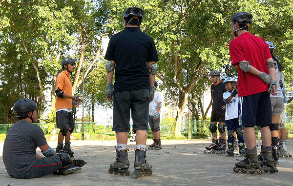 It is fun to take inline skating lessons as a company with Skateline