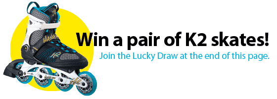 Join a lucky draw to win a pair of skates!