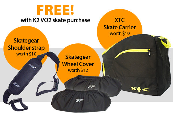 Free Gifts with purchase of K2 VO2 cross training skates.