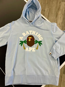 BATHING APE BAPE BABY BLUE LOS ANGELES STORE LAUNCH RELEASE HOODIE SIZE XL