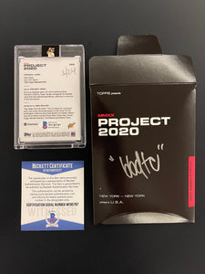 "1 OF 24 ""BBDTC"" WILLIE MAYS TOPPS PROJECT 2020 AUTOGRAPHED CARD IN BLUE INK"