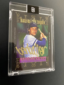 "1 OF 5 GEORGE BRETT ""BEN BALLER"" TOPPS PROJECT 2020 AUTOGRAPHED CARD IN GOLD INK"