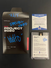 "Load image into Gallery viewer, 1 OF 32 ""BBDTC"" SANDY KOUFAX TOPPS PROJECT 2020 AUTOGRAPHED CARD IN SILVER INK"