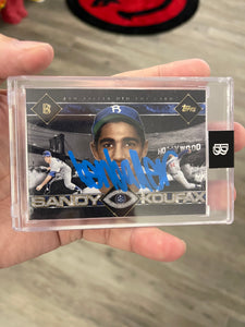 "1 OF 32 ""BBDTC"" SANDY KOUFAX TOPPS PROJECT 2020 AUTOGRAPHED CARD IN SILVER INK"