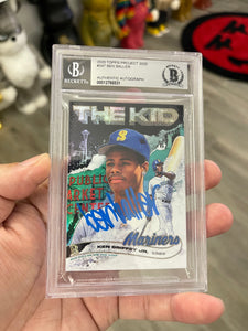 "1 OF 1  GOLD ""BEN BALLER"" AUTOGRAPHED KEN GRIFFEY JR. RAINBOW FOIL TOPPS PROJECT 2020 CARD"