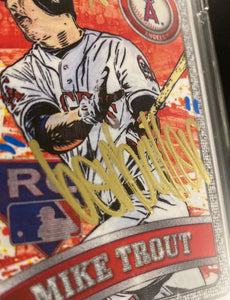 TOPPS PROJECT 2020 BEN BALLER AUTOGRAPHED MIKE TROUT ERROR CARD!