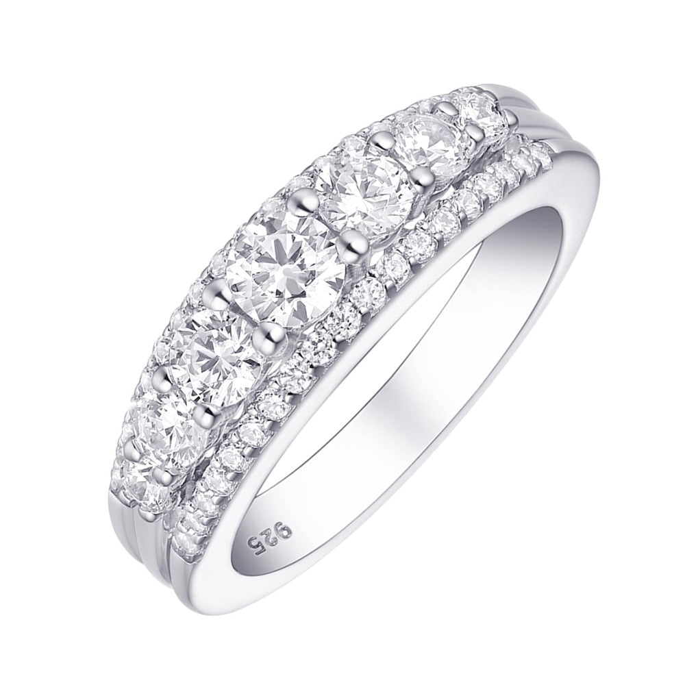 1.2 Ct AAA CZ Eternity Wedding Band