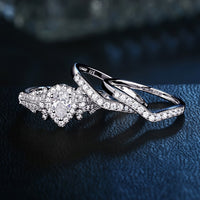 3 Pcs 1.4 Ct Pear Shape AAA CZ Engagement Ring Set