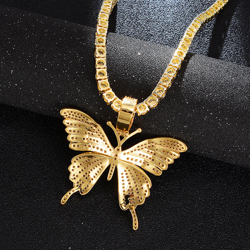 Drowning Butterfly Necklace