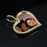 Custom Made Photo Heart Medallions Necklace