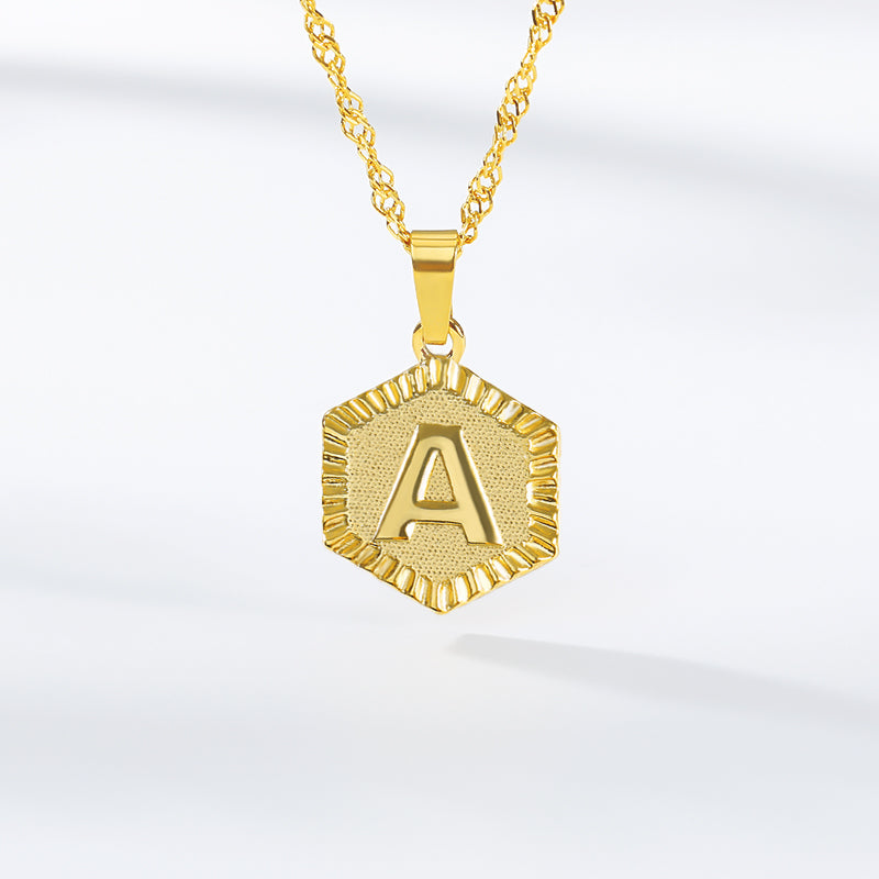 18K Initial Letter Necklaces