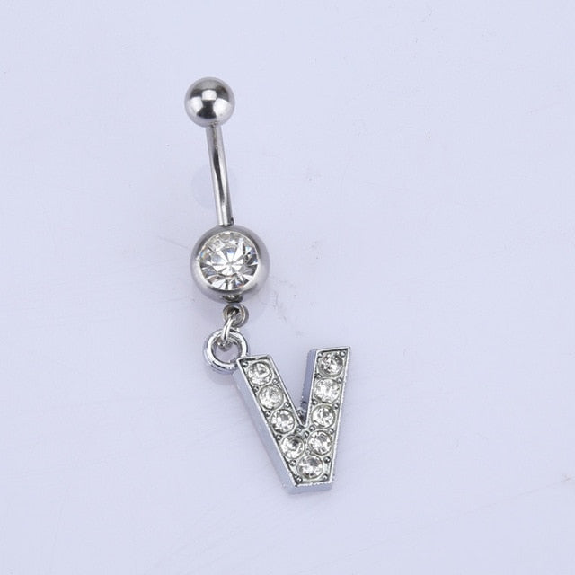 Initial Belly Button Ring