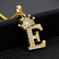 Shasha's Crown Jewel Initial Letter Necklace