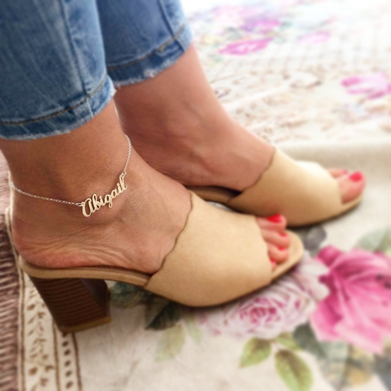GORGEOUS TALE Sukree Link Fashion Personalized Custom Name Anklet