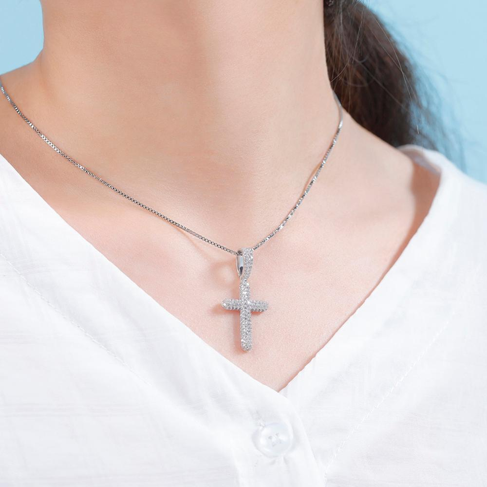 Shasha's Iced Out Cross Necklace