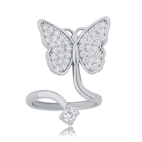 Flowing Butterfly Nail Ring