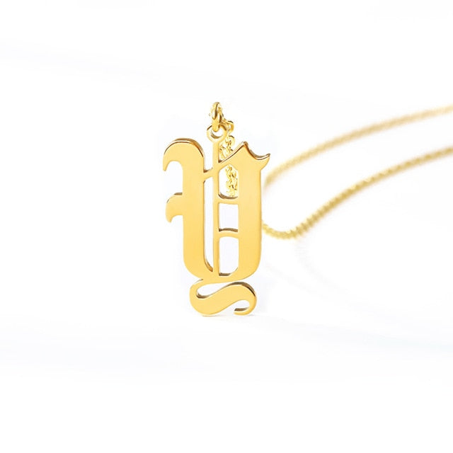 Ole English Initial Necklace