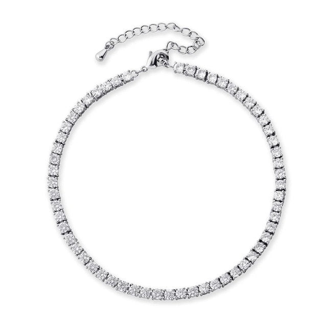 3mm Row Tennis Anklet Choker