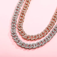 14mm Miami Box Clasp Cuban Link Chokers