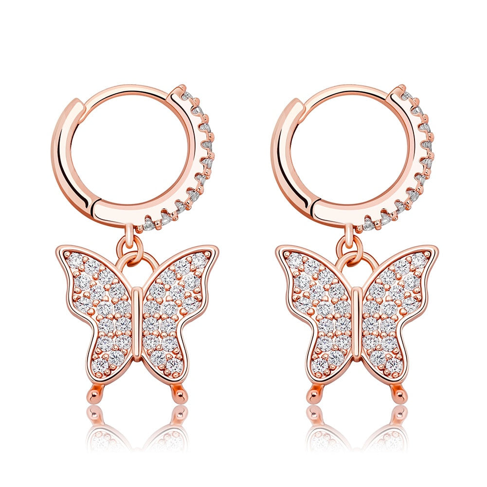 Shasha's Pink Butterfly Earring