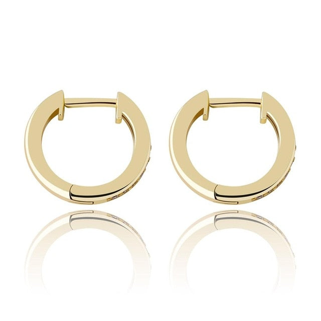 12mm Round Earrings Iced Out