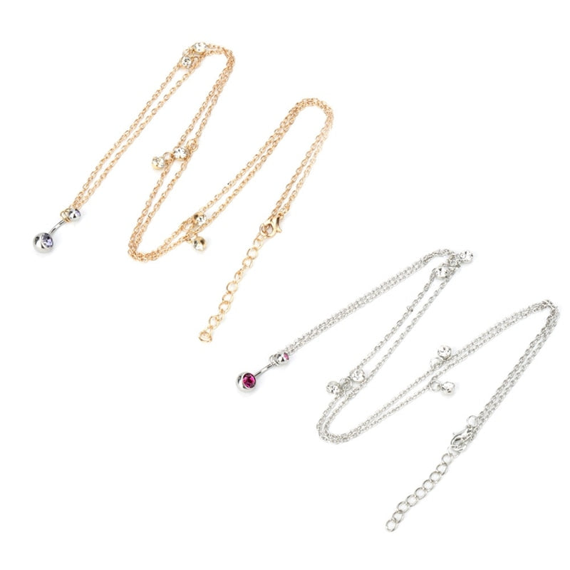 Crystal Bar Waist Chain