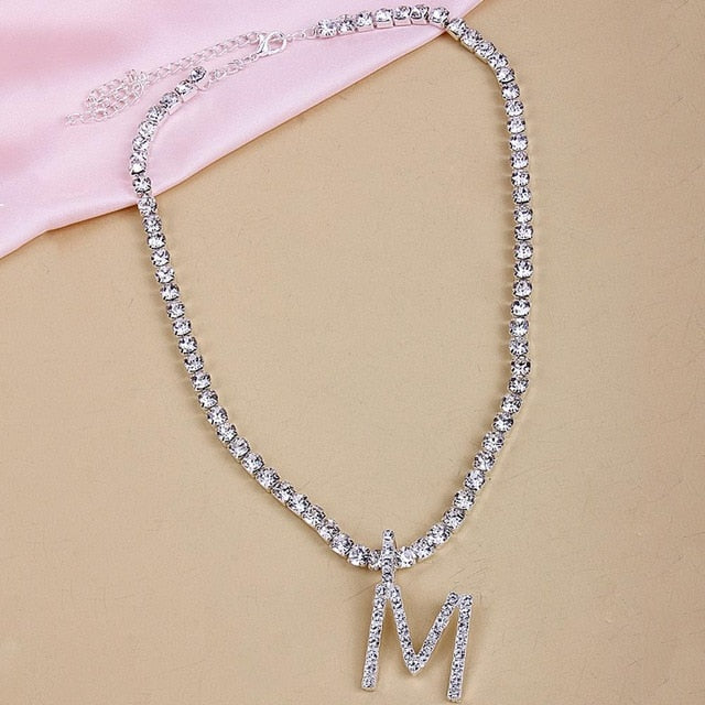 True Shine Initial Letter Necklace