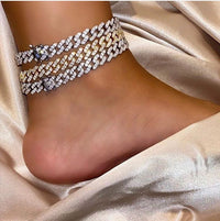 Iced Out Cuban Chain  Anklet