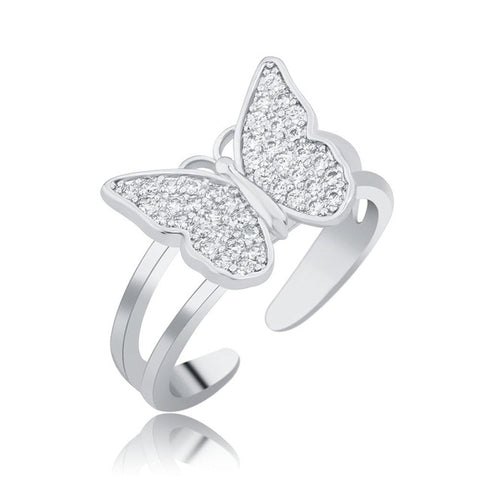 Floating Butterfly Ring
