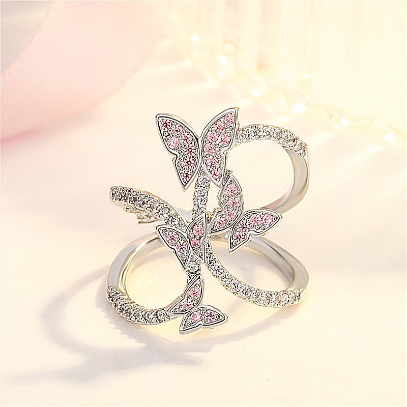 Infinite Butterfly Ring