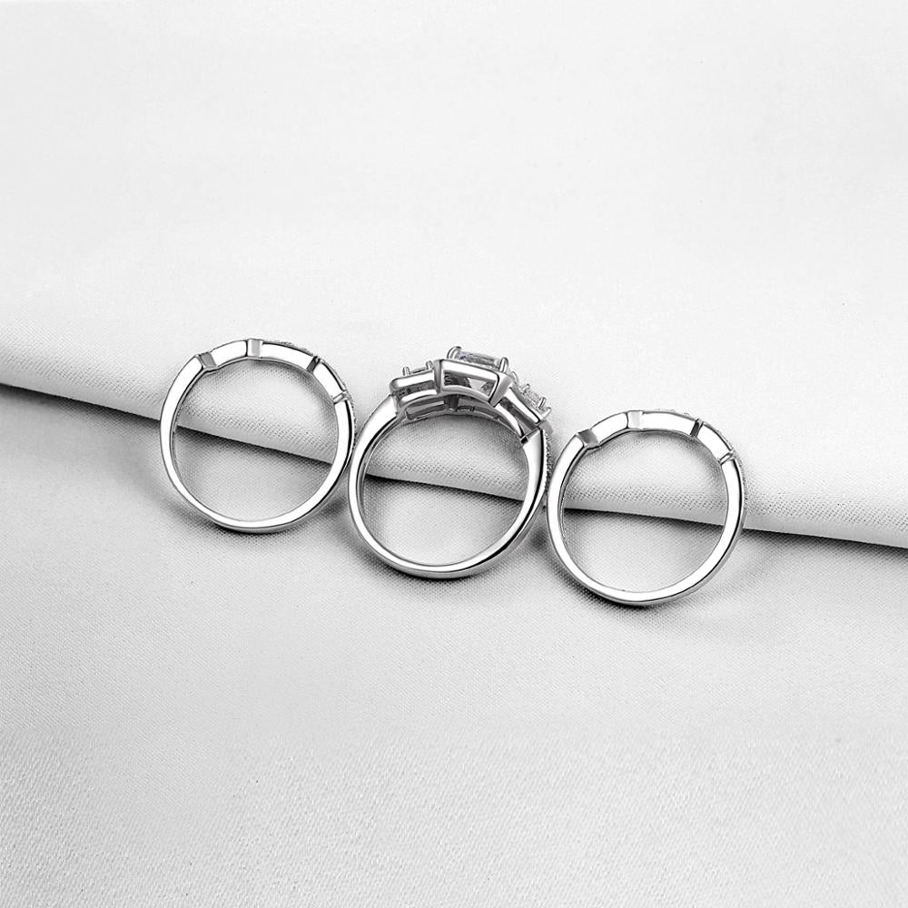 3 Pcs Wedding Ring Set Classic