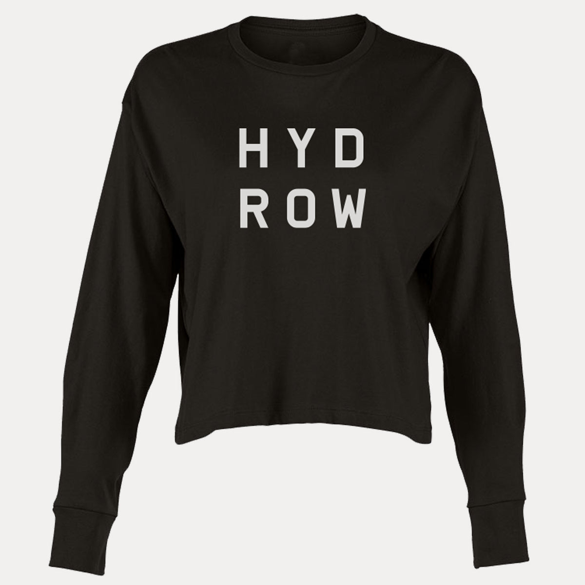 Hydrow Stacked Logo Women's Heavyweight Long Sleeve Crop