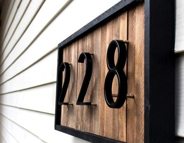 AvaBellucci™ Floating House Numbers