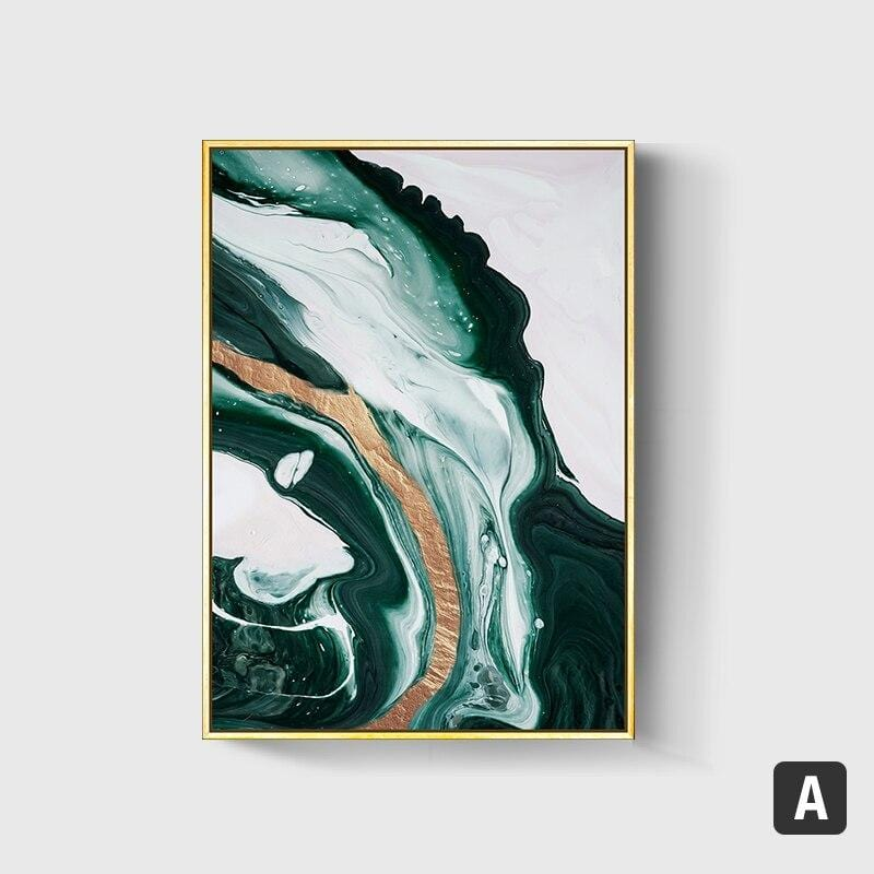 AvaBellucci™ 'Green Sea' Marbled Canvas Print