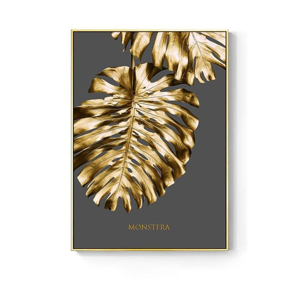 AvaBellucci™ Nordic 'Gold Leaf' Abstract Canvas Print