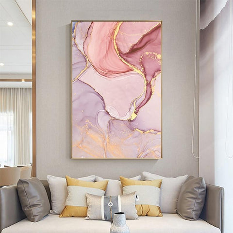 AvaBellucci™ Nordic 'Pink Sea' Abstract Canvas Print