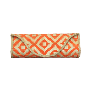 Bamboo Skin Maya Clutch - Natural Orange